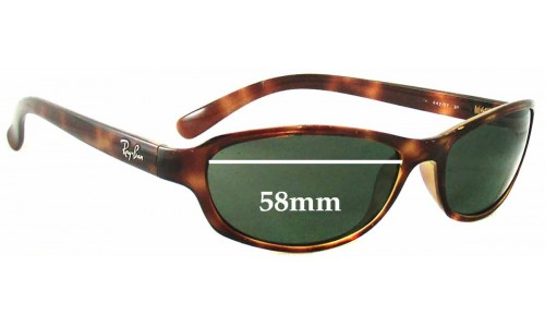 Ray Ban Predator RB4076 Replacement Sunglass Lenses- 58mm wide