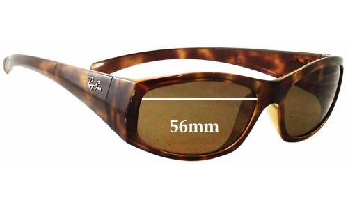Ray Ban RB4093 Replacement Sunglass Lenses - 56mm Wide