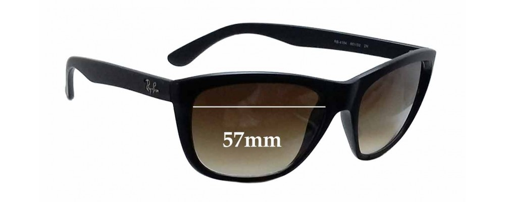 Ray Ban RB4154 Replacement Sunglass Lenses - 57mm wide