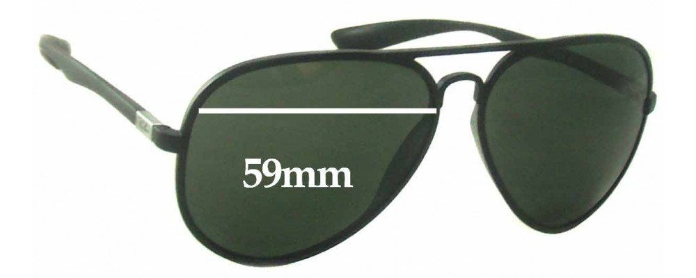 2a0940c49c3 Ray Ban RB4180 Liteforce Replacement Sunglass Lenses - 59mm Wide
