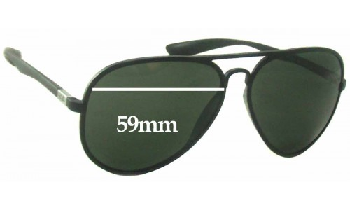 Ray Ban RB4180 Liteforce Replacement Sunglass Lenses - 59mm Wide