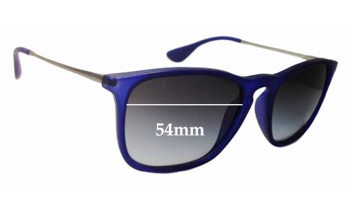 Sunglass Fix Replacement Lenses for Ray Ban RB4187 Chris - 54mm wide