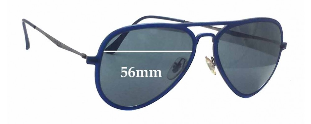 a5fd4727aa Ray Ban RB4211 Lightray Replacement Sunglass Lenses - 56mm wide