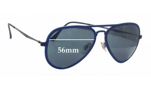 Ray Ban RB4211 Lightray Replacement Sunglass Lenses - 56mm wide