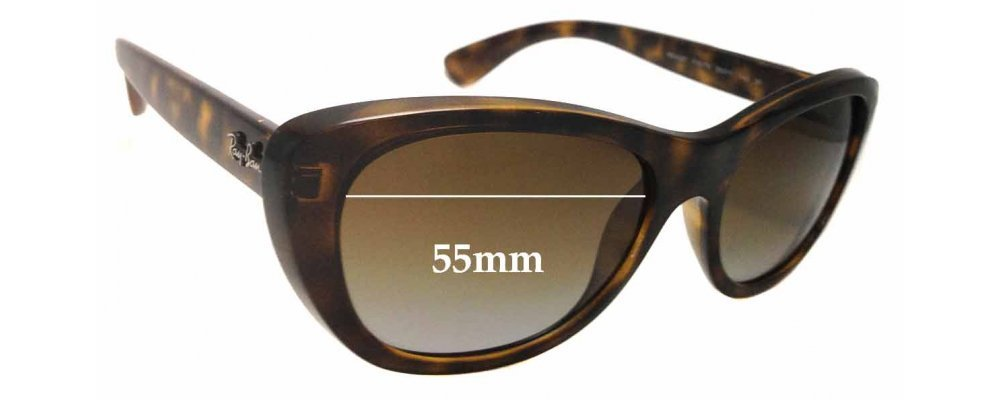 7a4102fdc3 Ray Ban RB4227 Replacement Sunglass Lenses - 55mm wide