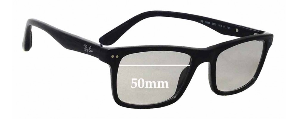 Ray Ban RB5288 Replacement Sunglass Lenses - 50mm wide
