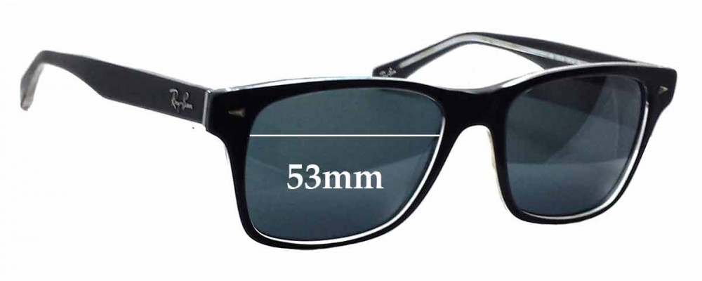 Ray Ban RB5308 Replacement Sunglass Lenses - 53mm wide