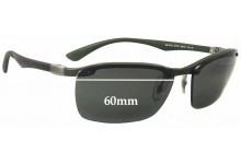 Ray Ban RB8312 Replacement Sunglass Lenses - 60mm wide