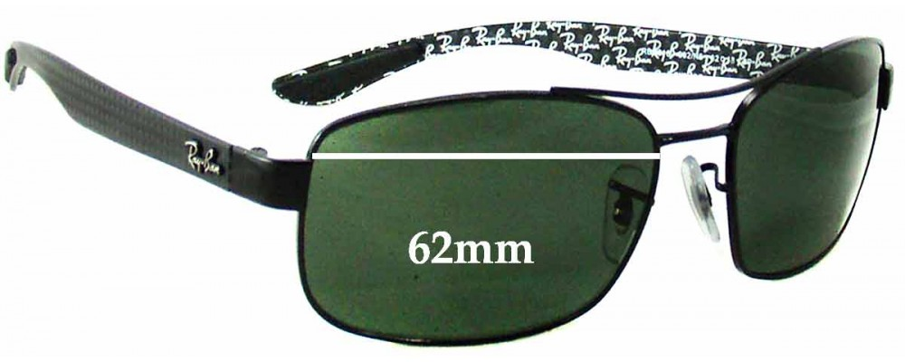 ea4c4699fed91 Sunglass Fix Replacement Lenses for Ray Ban RB8316 - 62mm Wide