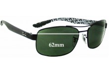 Ray Ban RB8316 Replacement Sunglass Lenses - 62mm Wide