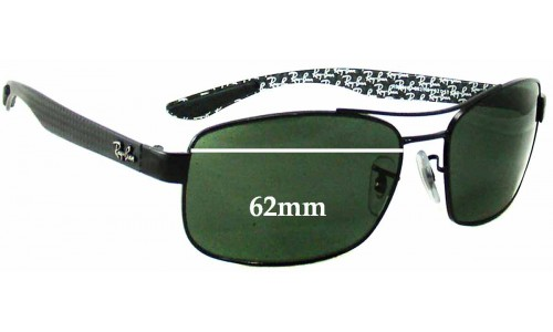 Sunglass Fix Replacement Lenses for Ray Ban RB8316 - 62mm Wide