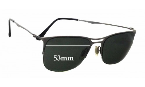 Ray Ban LightRay RB8715 Replacement Sunglass Lenses - 53mm wide