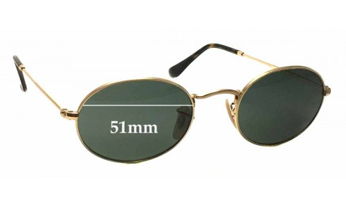 Sunglass Fix Replacement Lenses for Ray Ban RB3547-N - 51mm wide
