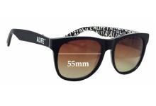 Retro Super Future Alife Replacement Sunglass Lenses - 55mm wide