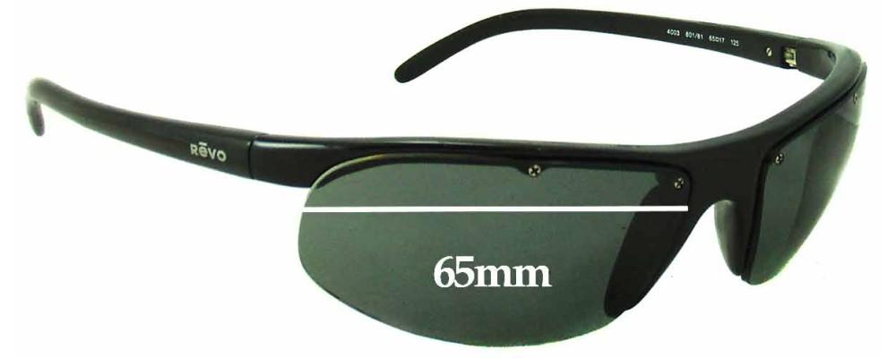 Revo Sunglasses Repair  re4003 replacement sunglass lenses 65mm wide