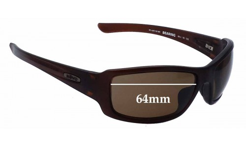 Sunglass Fix Replacement Lenses for Revo RE4057 Bearing - 64mm Wide