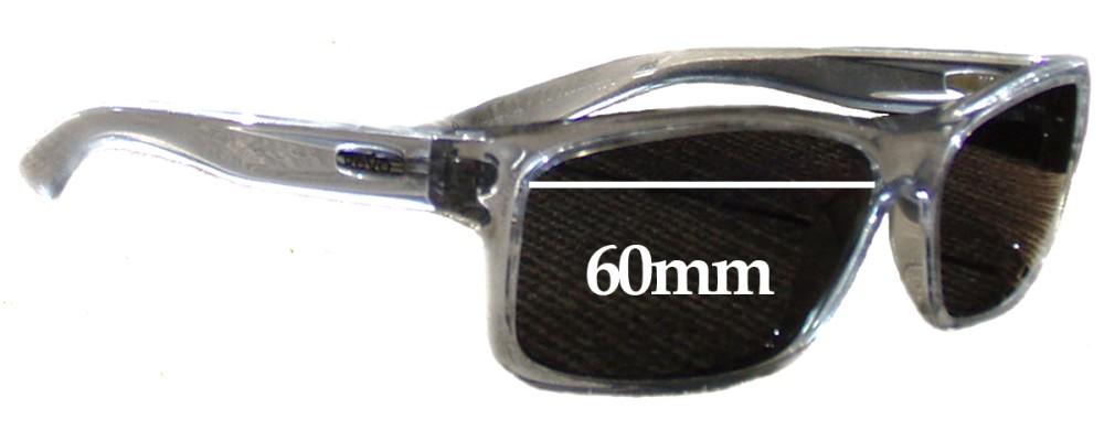 1158c2c060 Revo RE4061 Square Classic Replacement Sunglass Lenses - 60mm Wide
