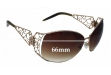 Sunglass Fix New Replacement Lenses for Roberto Cavalli Targelle 372S - 66mm Wide