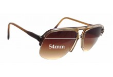 Sunglass Fix New Replacement Lenses for Ropco King Rim - 54mm Wide x 50mm Tall
