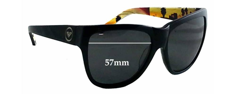 Roxy Gossip New Sunglass Lenses - 57mm wide