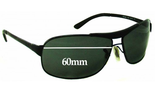 Ray Ban RB3323 Replacement Sunglass Lenses - 60mm Wide