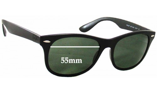 Sunglass Fix Replacement Lenses for Ray Ban RB4207 - 55mm Wide