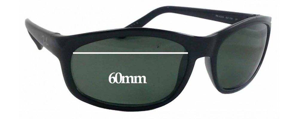 Ray Ban RB 4004 Replacement Sunglass Lenses - 60mm Wide