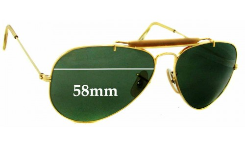 bf26600d01 Ray Ban RB3029 Bausch   Lomb Replacement Sunglass Lenses - 58mm wide