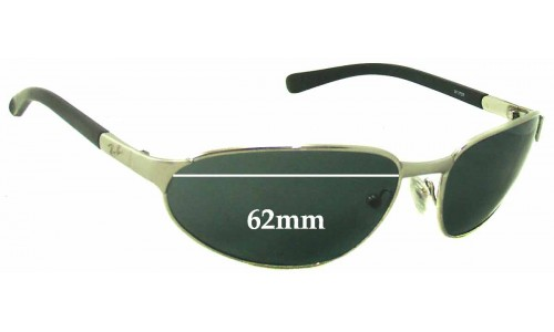 Ray Ban W3159 Replacement Sunglass Lenses - 62mm Wide
