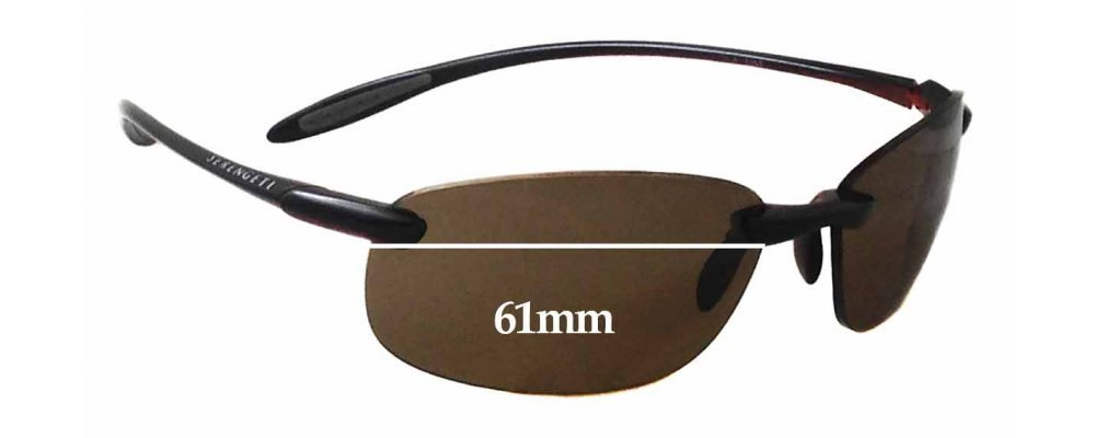 915717e68a8 Sunglass Fix Replacement Lenses for Serengeti Nuvola - 61mm wide
