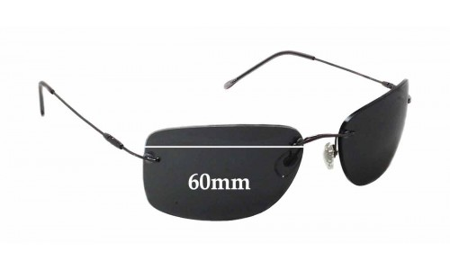Sina 9024 Replacement Sunglass Lenses - 60mm wide x 37mm tall