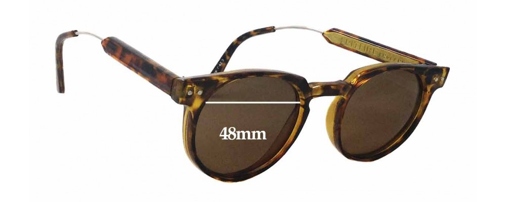 Spitfire Teddy Boy Replacement Sunglass Lenses - 48mm Wide