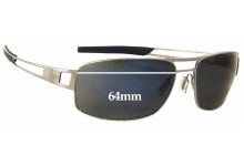 Tag Heuer Speedway TH0201 Replacement Sunglass Lenses - 64mm Wide