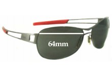 Tag Heuer Speedway TH0204 Replacement Sunglass Lenses - 64mm Wide