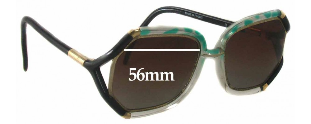 Ted Lapidus TL 1030 Replacement Sunglass Lenses - 56mm Wide