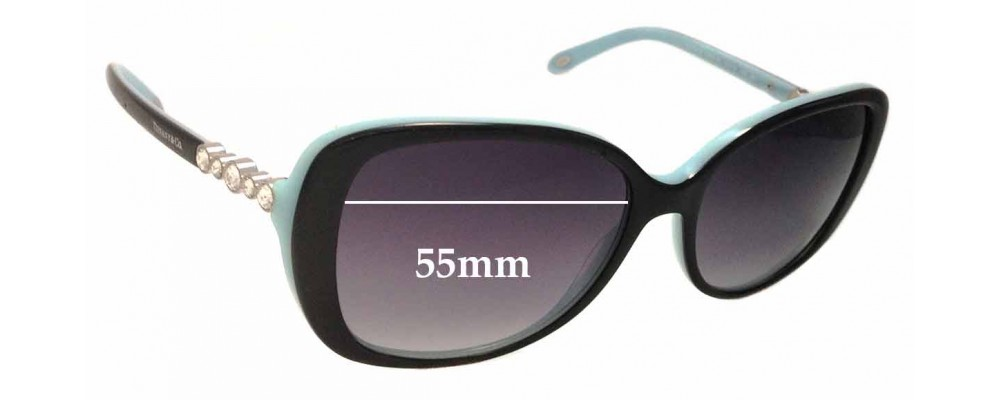 92ecca99405 Tiffany   Co TF4121-B Replacement Sunglass Lenses - 55mm Wide. Tiffany and Co  Eyeglass Frames ...
