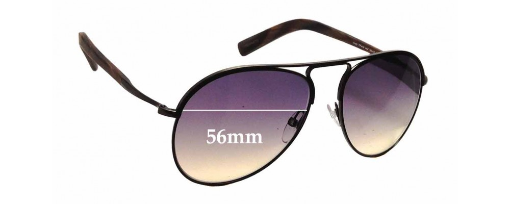 6c6c4d3aaaeee Tom Ford Cody TF448 Replacement Sunglass Lenses - 56mm wide