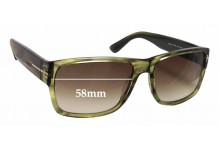 Tom Ford Mason TF0445 Replacement Sunglass Lenses - 58mm wide