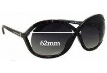 Tom Ford Sandra TF297 Replacement Sunglass Lenses - 62mm wide