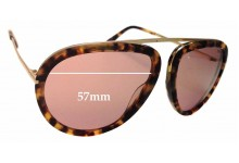 Tom Ford Stacy TF452 Replacement Sunglass Lenses - 57mm wide