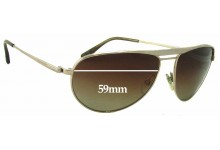 Tom Ford William TF207 Replacement Sunglass Lenses - 59mm Wide