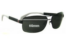 Tommy Hilfiger TH 1258/S Replacement Sunglass Lenses - 64mm wide