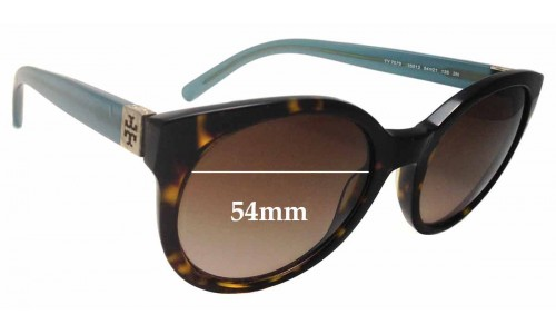 Sunglass Fix Replacement Lenses for Tory Burch TY7079 Replacment Sunglass Lenses - 54mm wide