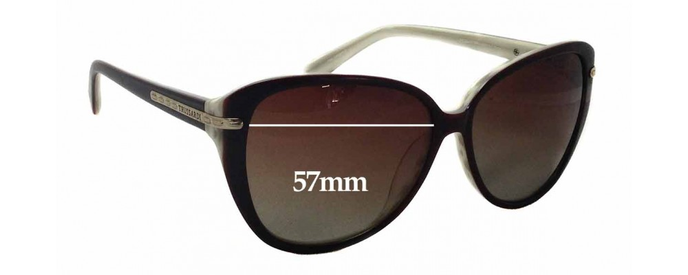 Trussardi TR12847 Replacement Sunglass Lenses - 57mm wide x 50mm tall