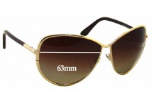 Tom Ford Francesca TF181 Replacement Sunglass Lenses - 63mm Wide