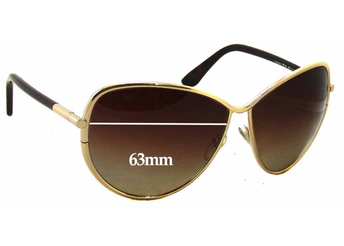 SFX Replacement Sunglass Lenses fits Tom Ford Aiden TF37 64mm Wide