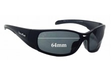 Ugly Fish Armour P 5066 Replacement Sunglass Lenses - 64mm wide