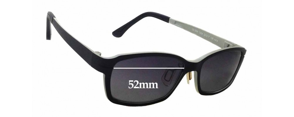 Ultem Abba 1304 Replacement Sunglass Lenses - 52mm wide x 32mm tall