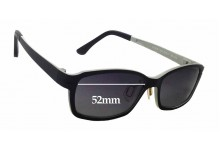 Ultem Abba 1304 Replacement Sunglass Lenses - 52mm wide x 32mm tall