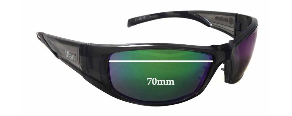 Unisafe Ulan Replacement Sunglass Lenses - 70mm wide - 38mm tall